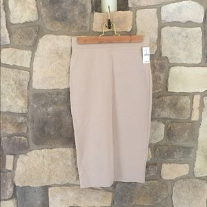 Never Worn Iris Tan Pencil Skirt